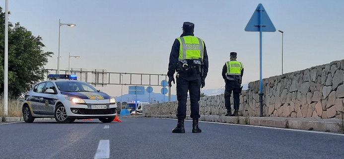 POLICIA LOCAL CONTROL CARRETERAS ALICANTE CORONAVIRUS 2020 ABRIL 04