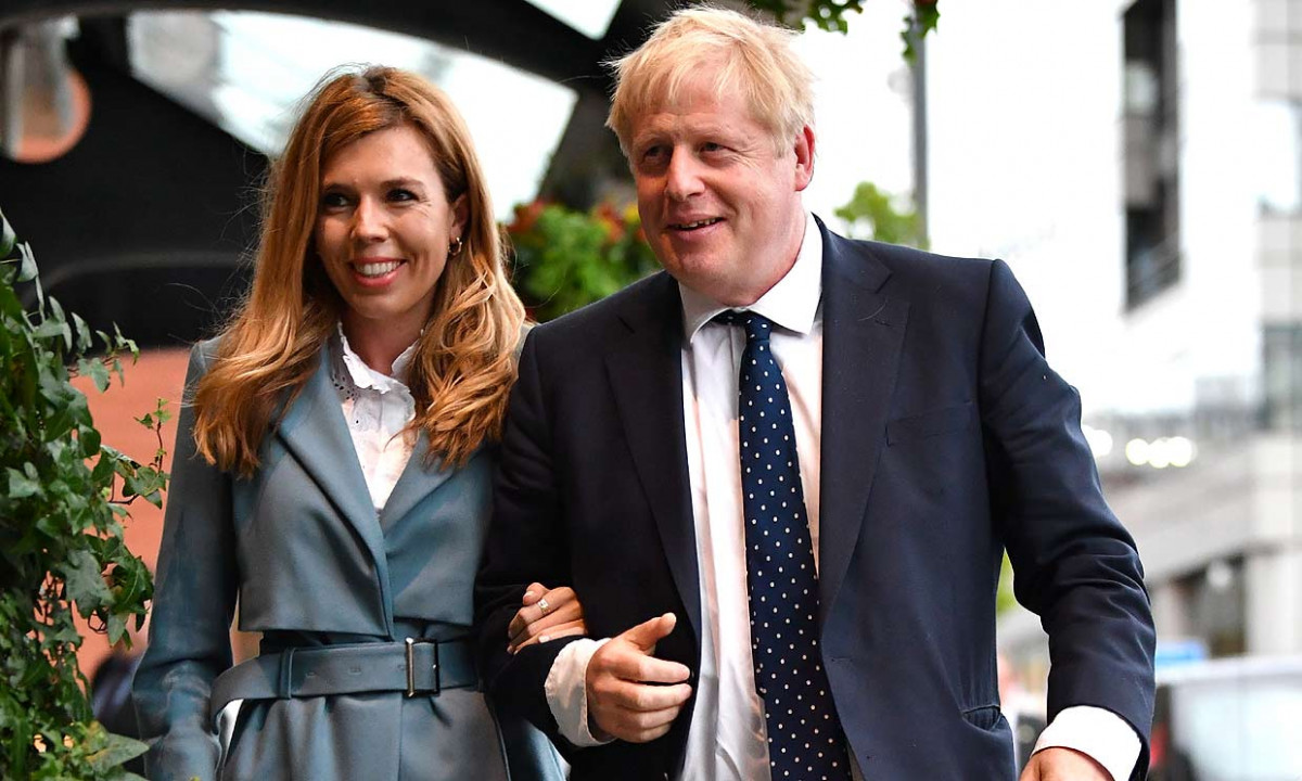 BORIS JOHNSON Y Carrie Symonds 2020